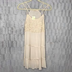 NWT Altar'd State Strappy Lace Tiered Ruffle Dress
